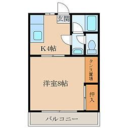 田代アパート[103号室]の間取り