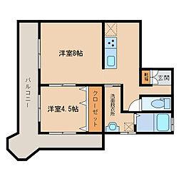 ブルーフェアリー[2階]の間取り
