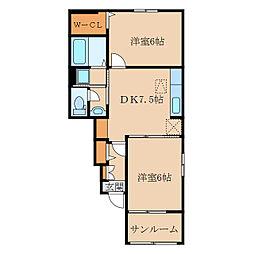 ガーデンハウスT I[1階]の間取り