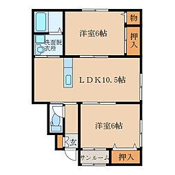 札元2丁目新築アパート(仮称[101号室]の間取り