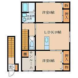 札元2丁目新築アパート(仮称[201号室]の間取り