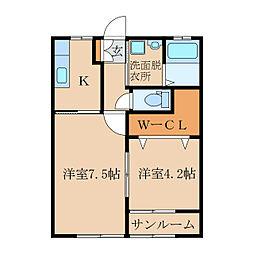 王子町新築アパートC棟(仮称[1階]の間取り