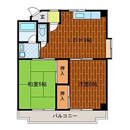 静岡県浜松市中区鴨江3丁目の賃貸マンションの間取り