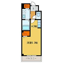 静岡県浜松市中区天神町の賃貸アパートの間取り