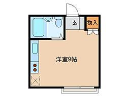 静岡県浜松市中区塩町の賃貸マンションの間取り