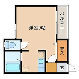 静岡県浜松市中区北寺島町の賃貸アパートの間取り