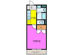 静岡県浜松市中区和地山2丁目の賃貸マンションの間取り