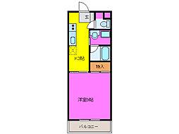 静岡県浜松市中区和地山1丁目の賃貸マンションの間取り