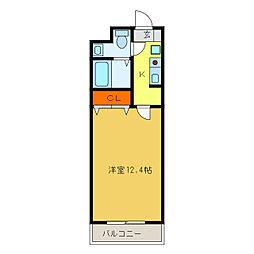 静岡県浜松市中区中央2丁目の賃貸マンションの間取り