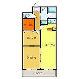 静岡県浜松市中区伝馬町の賃貸マンションの間取り