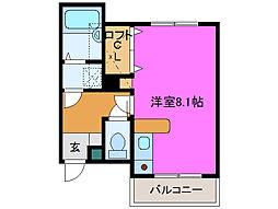 静岡県浜松市中区野口町の賃貸マンションの間取り