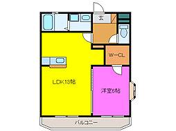 静岡県浜松市中区高林4丁目の賃貸マンションの間取り