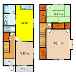 [一戸建] 静岡県浜松市中区中島1丁目 の賃貸【/】の間取り