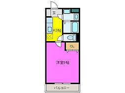 静岡県浜松市中区船越町の賃貸マンションの間取り