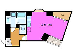 静岡県浜松市中区八幡町の賃貸マンションの間取り
