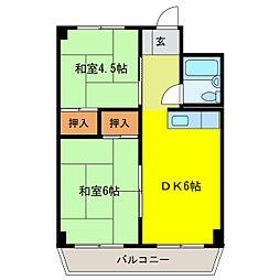 静岡県浜松市中区砂山町の賃貸マンションの間取り