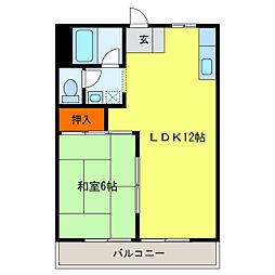 静岡県浜松市中区曳馬6丁目の賃貸アパートの間取り