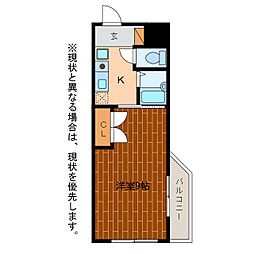 静岡県浜松市中区布橋1丁目の賃貸マンションの間取り