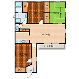 静岡県浜松市中区蜆塚3丁目の賃貸アパートの間取り