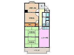 エステート鳴海[4階]の間取り