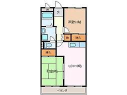 愛知県名古屋市緑区細口3丁目の賃貸マンションの間取り