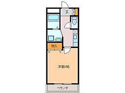 LA FUENTE[1階]の間取り