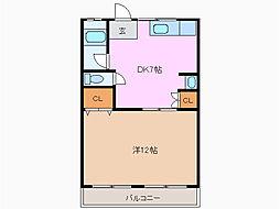 青山パークマンション[4階]の間取り