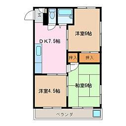 第5菊屋ビル[2階]の間取り