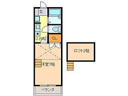 プレイス神田[2階]の間取り