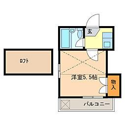 パレス一つ山[2階]の間取り