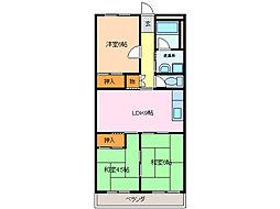 第二グリーンマンション[3階]の間取り