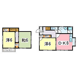 JR内房線 長浦駅 徒歩25分の賃貸アパート 1階3DKの間取り