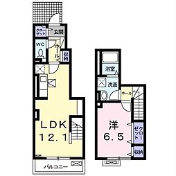 JR内房線 君津駅 バス14分 人見神社下車 徒歩2分の賃貸アパート 1階1LDKの間取り
