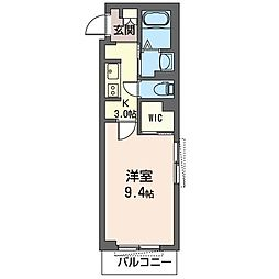 JR内房線 五井駅 徒歩11分の賃貸マンション 1階1Kの間取り