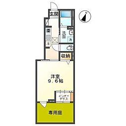 JR内房線 袖ヶ浦駅 徒歩11分の賃貸アパート 1階1Kの間取り