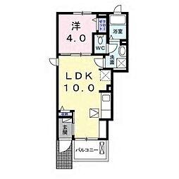 JR内房線 五井駅 徒歩29分の賃貸アパート 1階1LDKの間取り