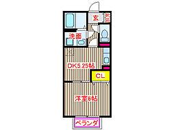 JR日豊本線 帖佐駅 徒歩9分の賃貸アパート 1階1DKの間取り