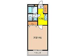 MITAKAマンション笠木[2階]の間取り