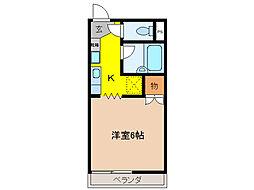 サンハイム[1階]の間取り