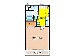 ルミネス1番館[3階]の間取り