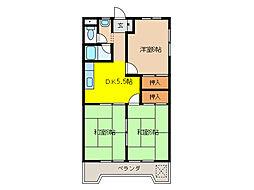 入山ビル[4階]の間取り