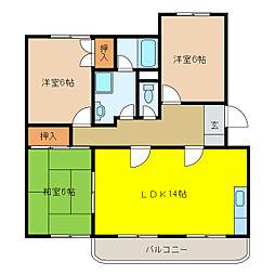 サンハイツ和田[3階]の間取り