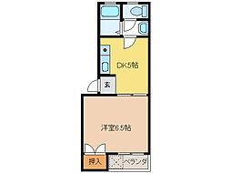 リバティヒルズ56[1階]の間取り