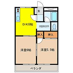 フォートレス21A[1階]の間取り