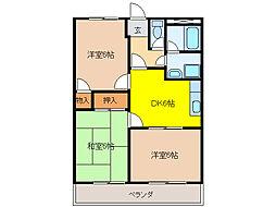 ロイヤルハイツ廣瀬159[2階]の間取り