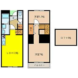 [テラスハウス] 岐阜県大垣市羽衣町3丁目 の賃貸【/】の間取り