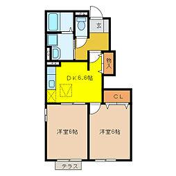 ゆいまーるハウスB[1階]の間取り