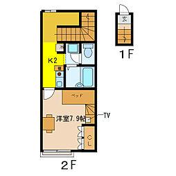 レオパレスアリッサム[2階]の間取り