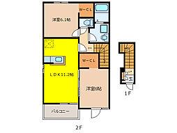 スプリング ヒルズ B[2階]の間取り
