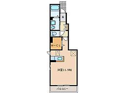 ソレアードV B[1階]の間取り